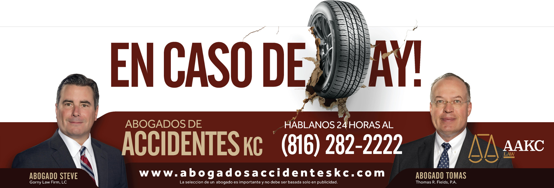 Abogados Accidentes de Kansas City Banner